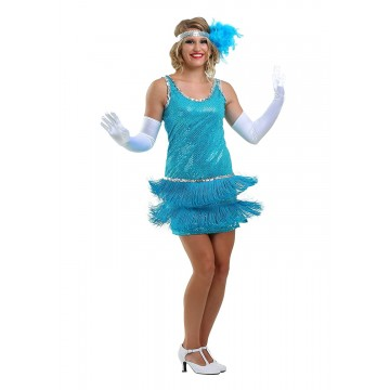 Sequin Fringe Turquoise
