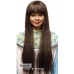 Black Long Wig with Tinsel