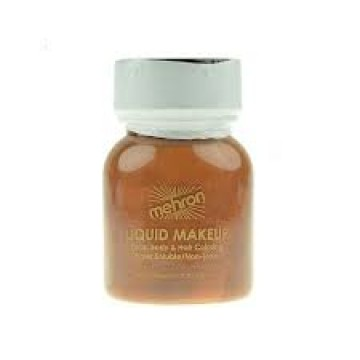 Brown liquid mehron make up