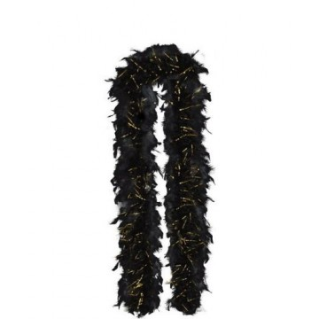 Black Tinsel Feather Boa