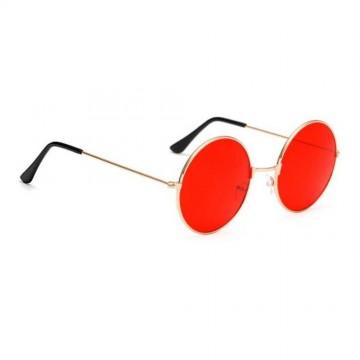 Hippie Retro Round Glasses - Red