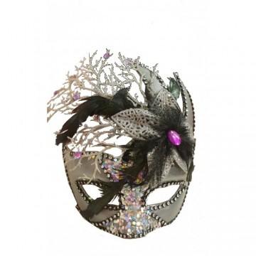 Feathered Eyemask with Glitter
