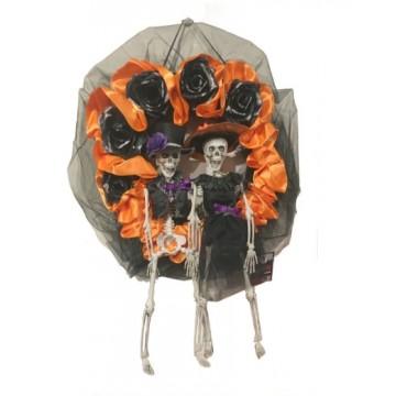 Couple Skeleton Wreath