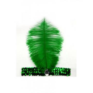 GREEN FLAPPER HEADBAND