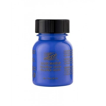Blue liquid mehron make up