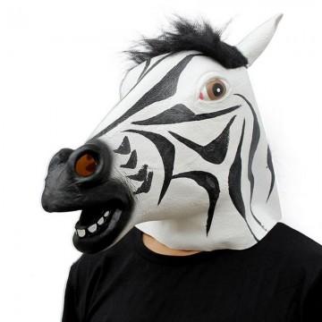 Zebra Latex Mask