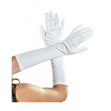 White Long Gloves