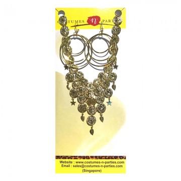 Gypsy necklace & earrings set
