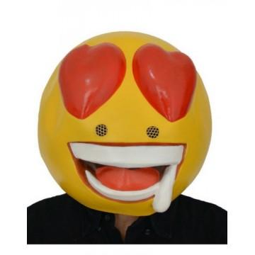 Heart Eye Emoji Latex Mask