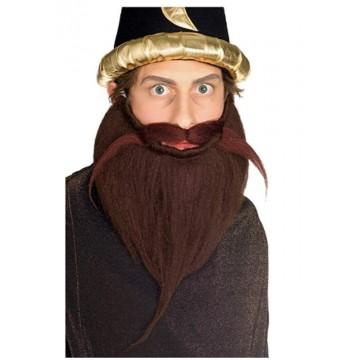 "8"" Beard & Moustache - Brown"