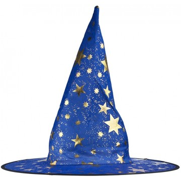 Shiny Star Witch Hat - Blue
