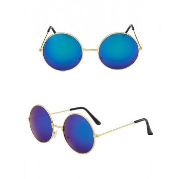 Hippie Retro Round Glasses - Multi color Blue