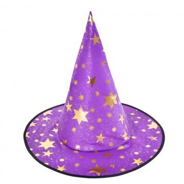 Shiny Star Witch Hat - Purple
