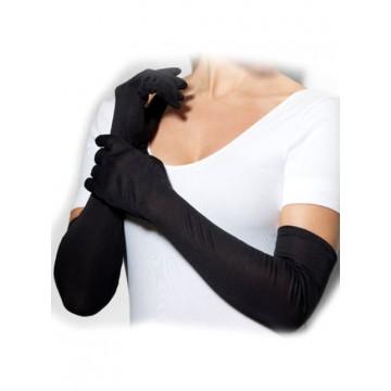 21' black long gloves
